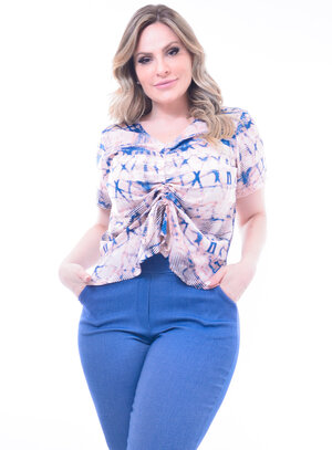 Blusa Plus Size Tie Dye