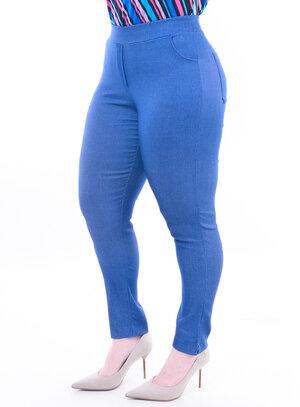 Calça Plus Size Azul Jeans