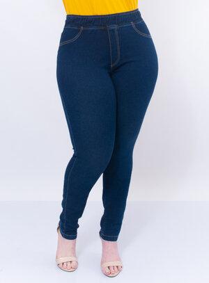Calça Legging Plus Size Jeans