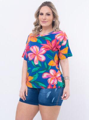 T-Shirt Plus Size Floral