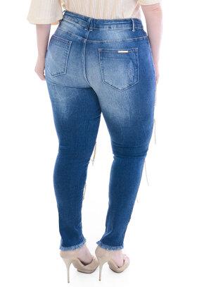 Calça Jeans Plus Size Dourada