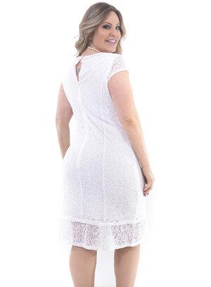 Vestido Plus Size Branco Noiva