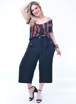 T-Shirt Plus Size Animal Print