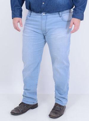 Calça em Jeans com Elastano Reta Delavê Masculina