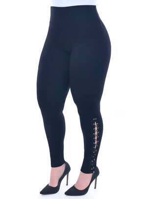 Legging Plus Size Ilhós