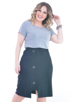 Blusa Plus Size Essencial Cinza