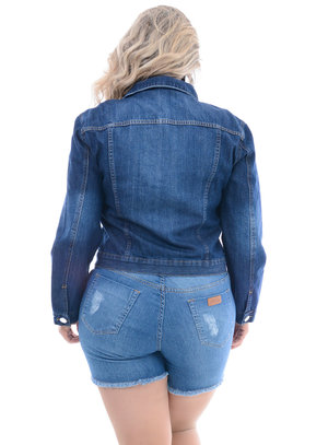Jaqueta Jeans Attribute Escura