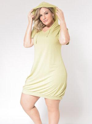 Vestido Plus Size Capuz