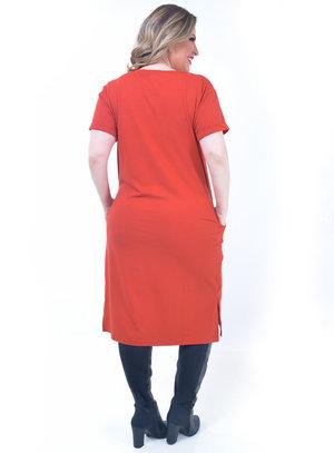 Vestido Plus Size Livre Telha