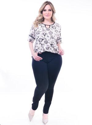 Blusa Plus Size Recorte
