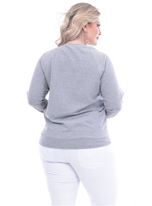 Moletom Plus For You Urso Plus Size