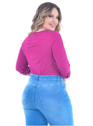 Blusa Plus Size Clássica Magenta