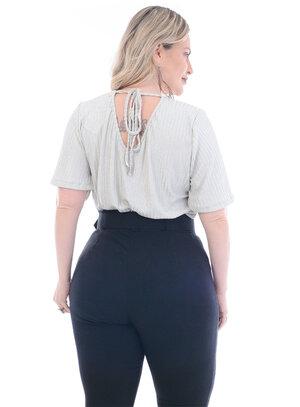 Blusa Plus Size Prata