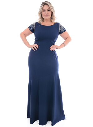 Vestido Longo Plus Size Majestoso