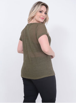 T-shirt Podrinha Plus Size