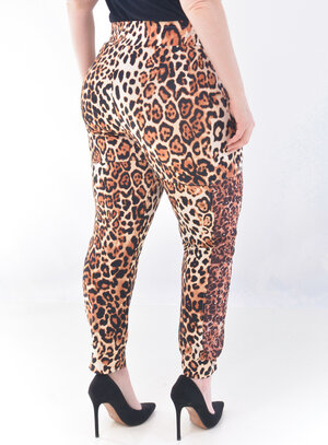 Calça Plus Size Jogger Animal Print