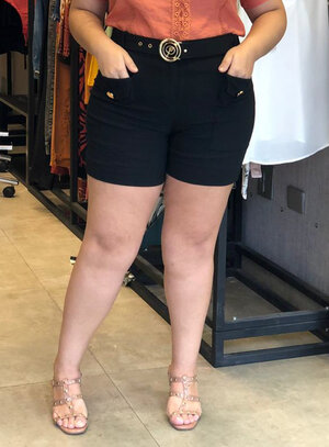 Short Plus Size Cintura Alta