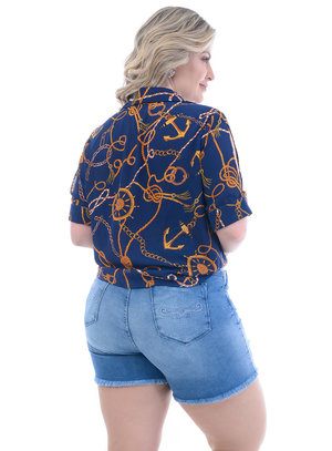 Camisa Plus Size Náutica