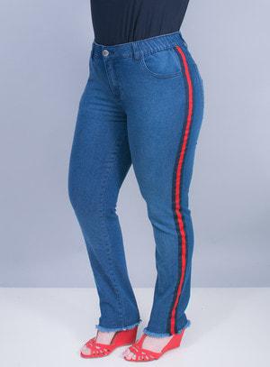 Calça Jeans Athleisure Elástico Interno no Cós