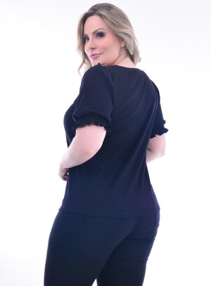 Blusa Plus Size Babado