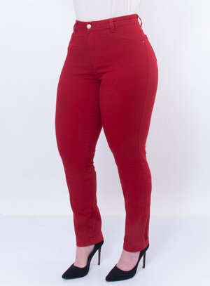 Calça Jeans Plus Size Bordado