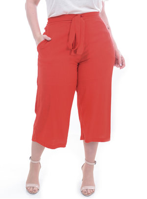 Calça Predilect's Pantacourt Coral Plus Size