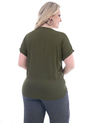T-Shirt Plus Size Green