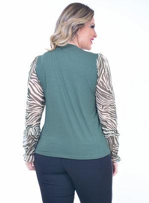 Blusa Plus Size Tule Verde