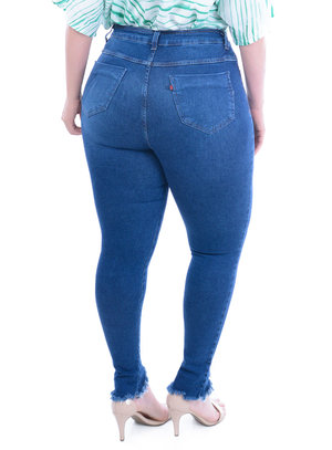 Calça Jeans Plus Size Lisa