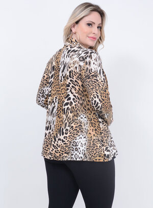 Twin Set Animal Print Plus Size