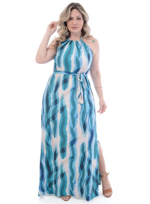 Vestido Longo Plus Size Baguta