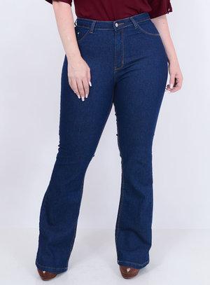 Calça Jeans Flare Plus Size