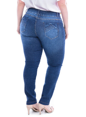 Calça Jeans True E- Motion Stone Plus Size