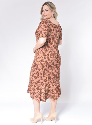 Vestido Plus Size Fenda