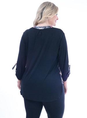 Blusa Melinde Mix Estampa Plus Size