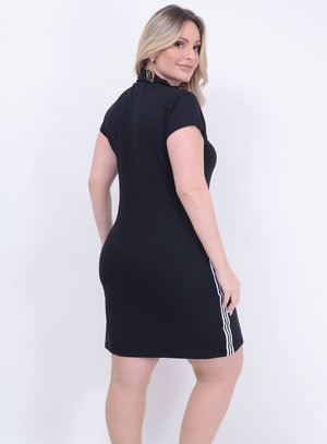 Vestido Listra Lateral Plus Size