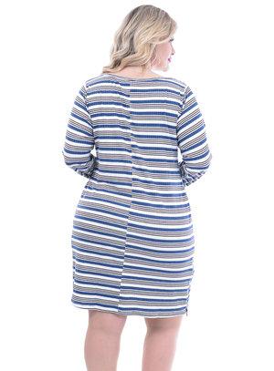 Vestido Lenner Listrado Plus Size
