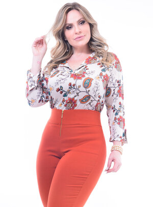 Blusa Plus Size Estampada