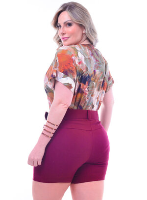 Blusa Plus Size Decote V