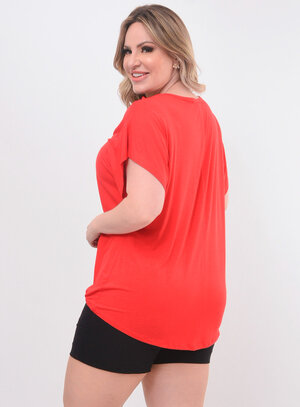 Blusa Plus Size com Renda