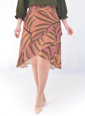 Saia Plus Size Estampada