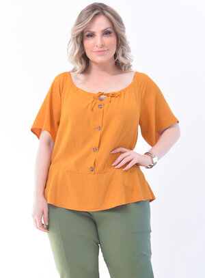 Blusa Plus Size Peplum