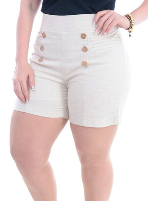 Shorts Plus Size Bonito