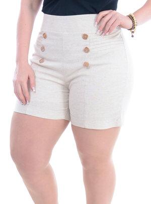 Shorts Plus Size Bonito