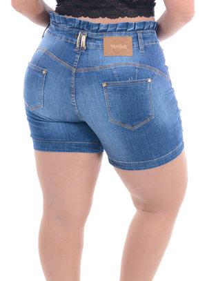 Shorts Jeans Plus Size Encantado