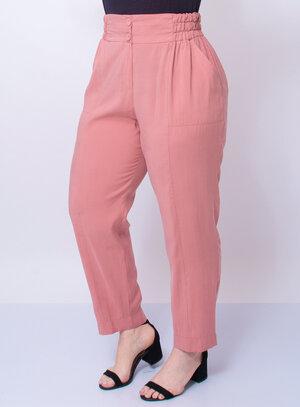 Calça Plus Size Elástico no Cós