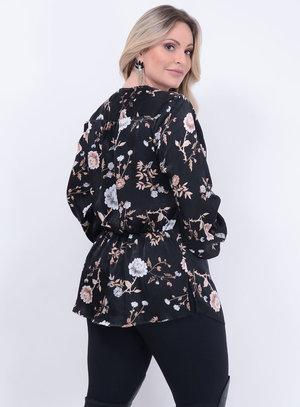 Camisa Manga Longa Florida Plus Size
