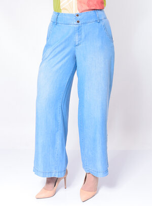 Calça Jeans Plus Size Pantalona