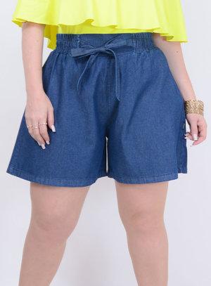 Short Jeans Soltinho Plus Size