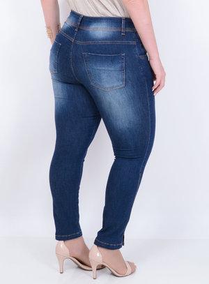 Calça Jeans Skinny Índigo Plus Size